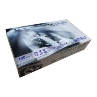 GS001-M Fit n Feel 藍色丁腈手套 Nitrile Glove, Blue (100pcs/box) ASTM D6978-05