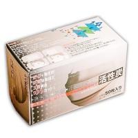 """""""Converex"""" 獨立包裝活性碳四層成人口罩 (50個/盒)"""